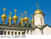 Москва, патриарший дворец и церковь 12 апостолов и церковь Ризоположения в Кремле (2014 год). Стоковое фото, фотограф ИВА Афонская / Фотобанк Лори