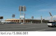 Купить «Футбольный стадион Петровский в Петроградском районе, Санкт-Петербург», видеоролик № 5866081, снято 30 апреля 2014 г. (c) Кекяляйнен Андрей / Фотобанк Лори