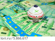 Купить «Юрта на деньгах Казахстана», эксклюзивное фото № 5866617, снято 18 сентября 2018 г. (c) Blekcat / Фотобанк Лори
