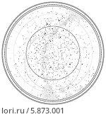 Купить «Астрономическая карта звёздного неба (детальная схема)», иллюстрация № 5873001 (c) Одиссей / Фотобанк Лори