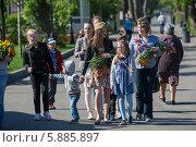 Купить «День Победы в Москве», фото № 5885897, снято 9 мая 2014 г. (c) Okssi / Фотобанк Лори