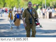 Купить «День Победы в Москве», фото № 5885901, снято 9 мая 2014 г. (c) Okssi / Фотобанк Лори