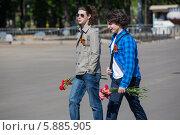Купить «День Победы в Москве», фото № 5885905, снято 9 мая 2014 г. (c) Okssi / Фотобанк Лори