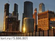 Москва-Сити (2014 год). Редакционное фото, фотограф Андрей Попов / Фотобанк Лори