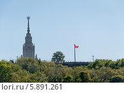 Знамя победы в Москве (2014 год). Стоковое фото, фотограф Алексей Меньшиков / Фотобанк Лори