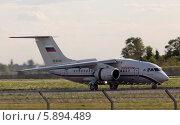 Самолёт Ан-148-100Б на рулёжке аэродрома (2014 год). Редакционное фото, фотограф Артур Буйбаров / Фотобанк Лори