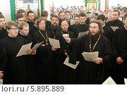 Праздничная литургия в  Богоявленском Старо-Голутвином мужском монастыре (2014 год). Редакционное фото, фотограф Дмитрий Неумоин / Фотобанк Лори