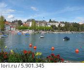 Женевское озеро (2008 год). Стоковое фото, фотограф Татьяна Чечина / Фотобанк Лори