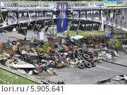Баррикады на Институтской улице в Киеве с плакатами погибших протестующих (2014 год). Редакционное фото, фотограф Светлана Пирожук / Фотобанк Лори