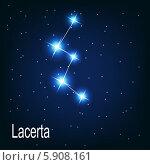 """Купить «Созвездие """"Lacerta"""" на ночном небе», иллюстрация № 5908161 (c) Юлия Гапеенко / Фотобанк Лори"""