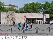 Купить «Московский метрополитен, станция Баррикадная», эксклюзивное фото № 5912173, снято 8 мая 2014 г. (c) lana1501 / Фотобанк Лори