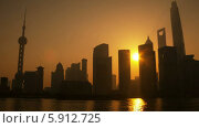 Купить «Восход солнца в Шанхае», видеоролик № 5912725, снято 18 мая 2014 г. (c) Кирилл Трифонов / Фотобанк Лори