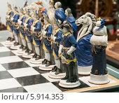 Купить «Шахматная армия. Синие», фото № 5914353, снято 16 марта 2014 г. (c) Сергей Неудахин / Фотобанк Лори