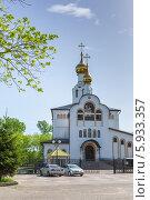 Благовещенский кафедральный собор в городе  Биробиджан (2014 год). Редакционное фото, фотограф Ольга Разуваева / Фотобанк Лори