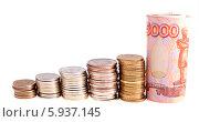 Купить «Монеты, сложенные в столбики. Концепция роста доходов», фото № 5937145, снято 8 сентября 2013 г. (c) Литвяк Игорь / Фотобанк Лори