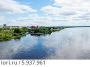 Город на берегу реки Волхов (2012 год). Стоковое фото, фотограф Юля С. / Фотобанк Лори