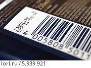 Штрихкод на упаковке (2014 год). Редакционное фото, фотограф Цибаев Алексей / Фотобанк Лори