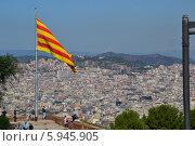 Вид на Барселону с горы Монжуик (2012 год). Редакционное фото, фотограф Юлия Романова / Фотобанк Лори
