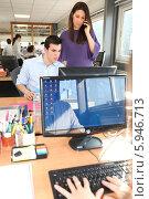 Купить «рабочие будни в офисе», фото № 5946713, снято 13 февраля 2010 г. (c) Phovoir Images / Фотобанк Лори