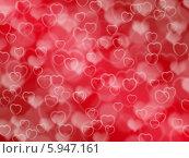 Купить «Красный фон с сердечками и эффектом боке», иллюстрация № 5947161 (c) Светлана Ильева (Иванова) / Фотобанк Лори