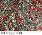 Купить «Узор павловопосадского платка», эксклюзивное фото № 5947681, снято 26 апреля 2014 г. (c) Blekcat / Фотобанк Лори