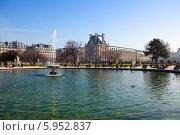 Купить «Люксембургский сад в Париже», фото № 5952837, снято 4 февраля 2014 г. (c) Куликов Константин / Фотобанк Лори