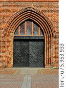 Купить «Кафедральный собор Кёнигсберга, главный вход», фото № 5953933, снято 21 января 2014 г. (c) Сергей Трофименко / Фотобанк Лори