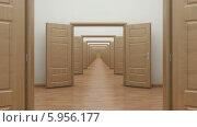 Купить «Анфилада одинаковых комнат», видеоролик № 5956177, снято 30 мая 2014 г. (c) LVV / Фотобанк Лори