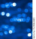 Синий фон с размытыми световыми бликами (боке) Стоковое фото, фотограф E. O. / Фотобанк Лори