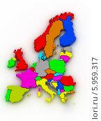 Купить «Разноцветная карта Европы», иллюстрация № 5959317 (c) Maksym Yemelyanov / Фотобанк Лори