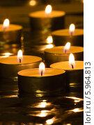 Купить «Горящие чайные свечи», фото № 5964813, снято 22 января 2014 г. (c) Anton Kozyrev / Фотобанк Лори
