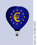 Воздушный шар Евро. Стоковая иллюстрация, иллюстратор Веснинов Янис / Фотобанк Лори