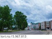 Микрорайон имени Бумагина в городе Биробиджан (2014 год). Редакционное фото, фотограф Ольга Разуваева / Фотобанк Лори