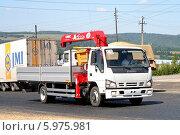 Купить «Грузовик Isuzu NQR», фото № 5975981, снято 19 июля 2008 г. (c) Art Konovalov / Фотобанк Лори