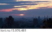 Купить «Рассвет над городом, таймлапс», видеоролик № 5976481, снято 7 июля 2013 г. (c) Данил Руденко / Фотобанк Лори