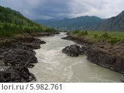 Река Катунь, Алтай, Сибирь. Стоковое фото, фотограф Alexander Zholobov / Фотобанк Лори