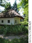 Сельский деревянный дом, обмазанный глиной (мазанка) (2014 год). Стоковое фото, фотограф Юлия Желтенко / Фотобанк Лори
