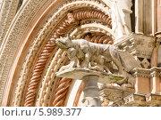 Купить «Сиенский собор в честь Успения Пресвятой Девы Марии. Сиена», фото № 5989377, снято 1 апреля 2014 г. (c) Александр Перепелицын / Фотобанк Лори
