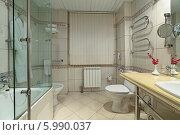 Купить «Интерьер ванной комнаты», фото № 5990037, снято 23 сентября 2013 г. (c) Игорь Долгов / Фотобанк Лори