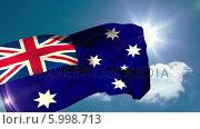 Купить «Australia national flag blowing in the breeze», видеоролик № 5998713, снято 20 февраля 2020 г. (c) Wavebreak Media / Фотобанк Лори