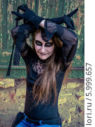 Купить «Хеллоуин, макияж», фото № 5999657, снято 30 октября 2013 г. (c) Наталья Степченкова / Фотобанк Лори
