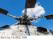 Купить «Лопасти старого вертолета на фоне неба», фото № 6002169, снято 22 сентября 2018 г. (c) FotograFF / Фотобанк Лори