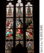 Купить «Витражи базилики святых Петра и Павла в Праге», фото № 6003845, снято 25 декабря 2013 г. (c) Мальцев Артур / Фотобанк Лори