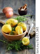 Молодой картофель с маслом и укропом. Стоковое фото, фотограф Марина Сапрунова / Фотобанк Лори