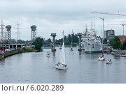 Купить «Яхты на воде. Городской пейзаж», эксклюзивное фото № 6020289, снято 15 июня 2014 г. (c) Svet / Фотобанк Лори
