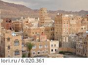 Купить «Историческая часть Саны- столицы Йемена вечером», фото № 6020361, снято 31 марта 2014 г. (c) Овчинникова Ирина / Фотобанк Лори