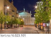 Вильнюс. Ночной вид (2014 год). Редакционное фото, фотограф Иван Козлов / Фотобанк Лори