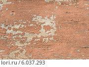 Деревянная стена с облупившейся красной краской. Стоковое фото, фотограф Анастасия Филиппова / Фотобанк Лори