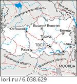 Купить «Карта Тверской области», иллюстрация № 6038629 (c) VectorImages / Фотобанк Лори