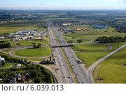 Пересечение Симферопольского и Домодедовского шоссе (2014 год). Редакционное фото, фотограф Дмитрий Бакулин / Фотобанк Лори